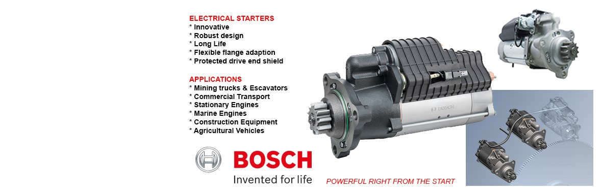 Bosch electrical starters
